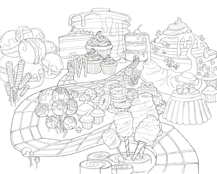 candyland castle coloring pages free - photo#8